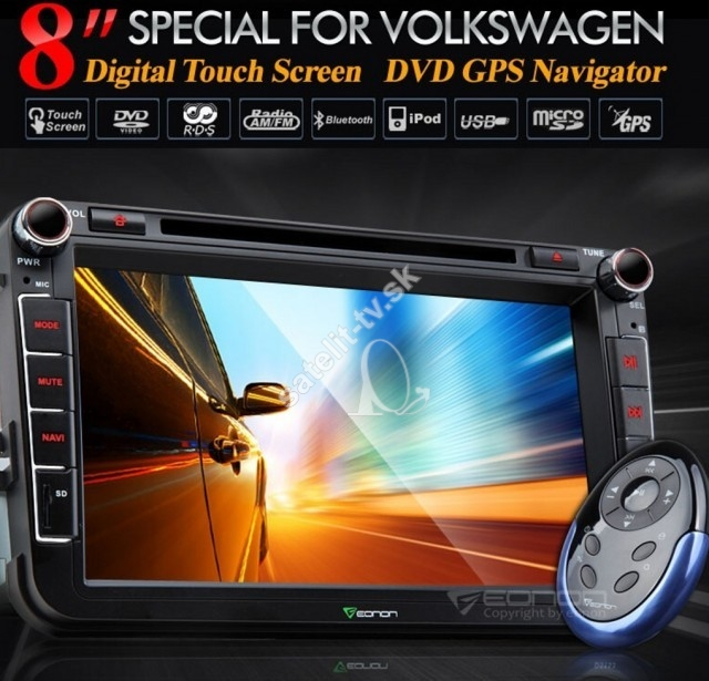 50e0dee88 Multimedialne radio Volkswagen , Skoda , Seat s DVD + GPS model ...