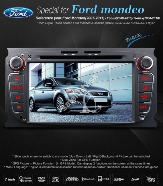 Ford Mondeo, Focus, S-max CD+ DVD+GPS model Eonon