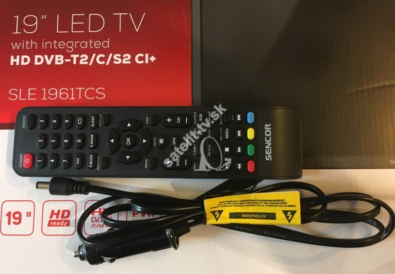 2f33e74dc Sencor SLE 1961TCS H.265 (HEVC) 12V camping TV - Televízory na 12V a ...