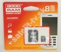 GOODRAM 8GB SDHC Micro Secure Digital + MS Pro Duo adapter, Clas
